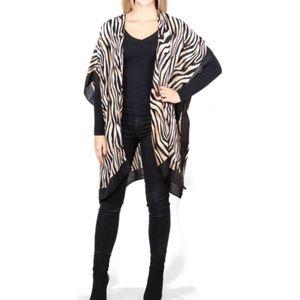 amazing zebra animal print ~ kimono wrap